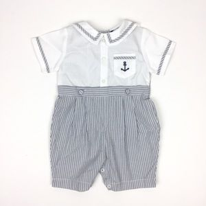 Carriage Boutiques Nautical Romper 9 Months